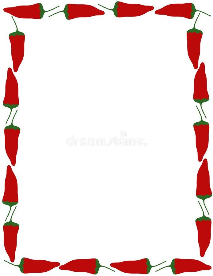 Frontera de la pimienta stock de ilustración