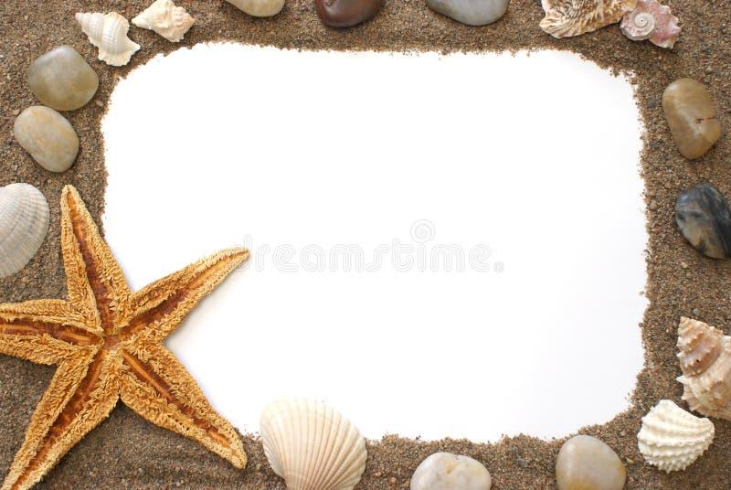 Frontera de la playa fotografía de archivo libre de regalías