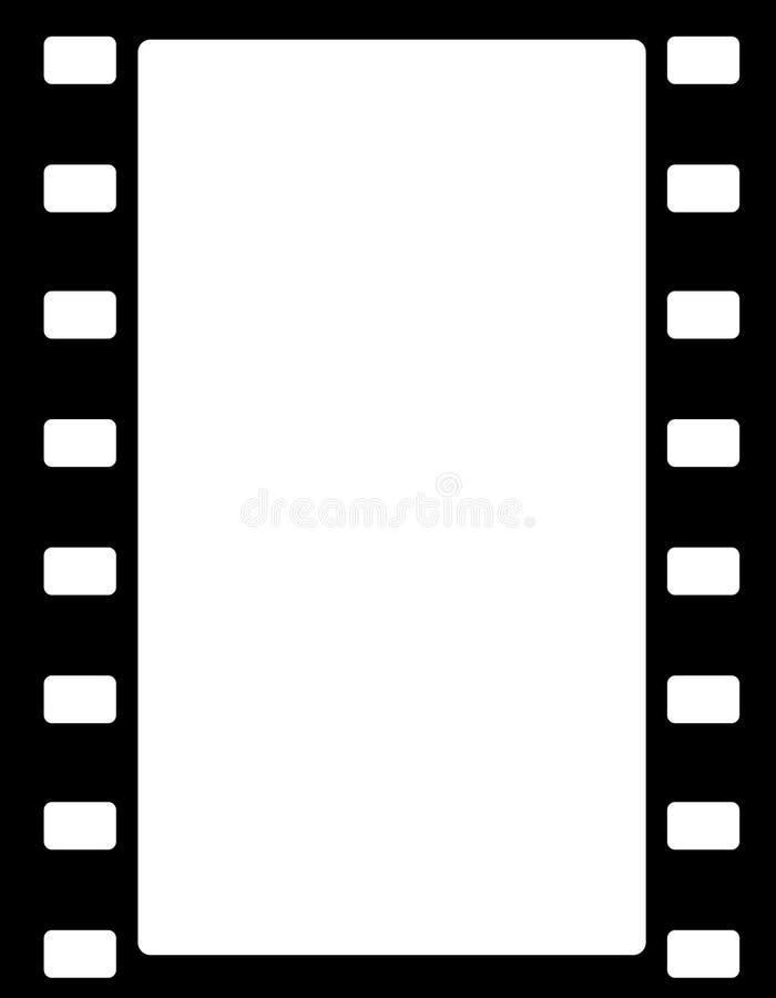 Frontera de la raya de la película ilustración del vector