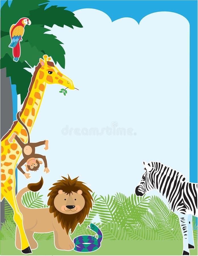 Frontera de la selva ilustración del vector