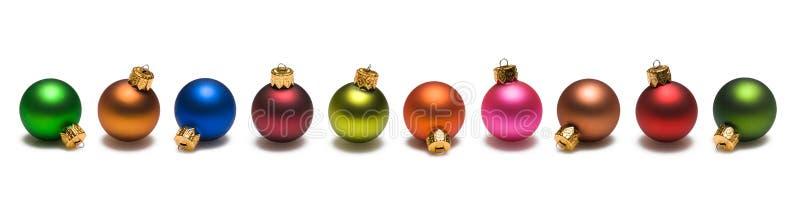 Frontera de las bolas de la Navidad foto de archivo libre de regalías