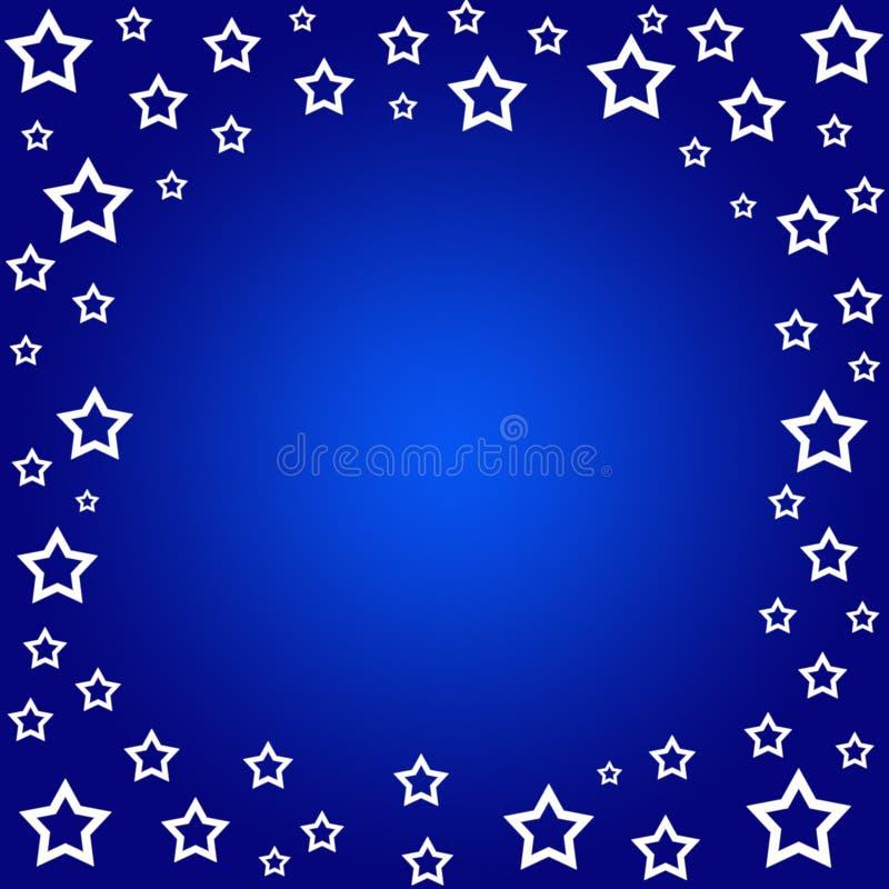 Frontera de las estrellas ilustración del vector