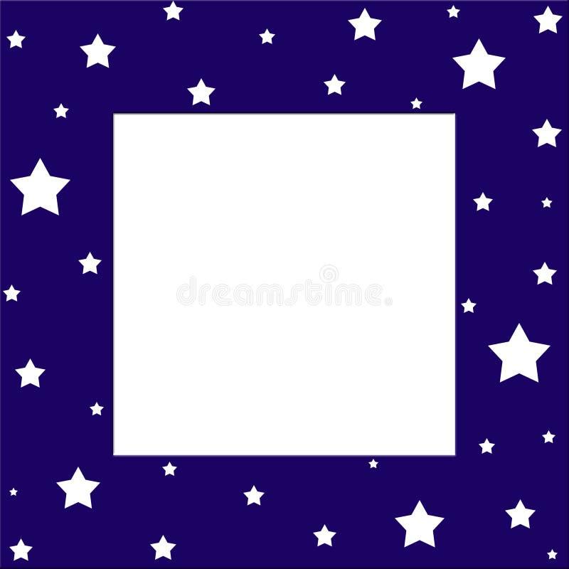 Frontera de las estrellas stock de ilustración