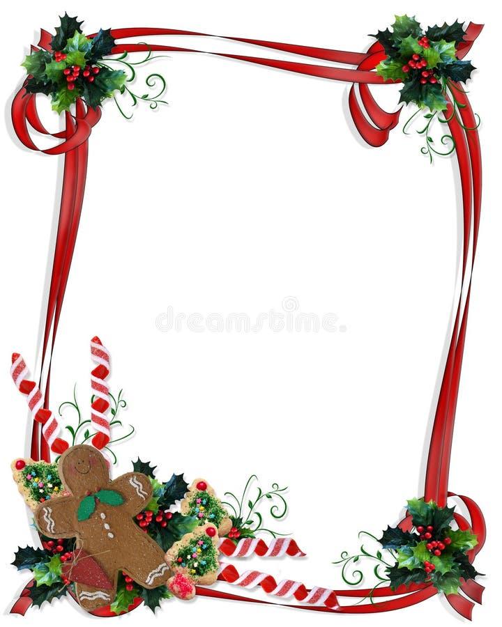 Frontera de las galletas y de los convites de la Navidad libre illustration