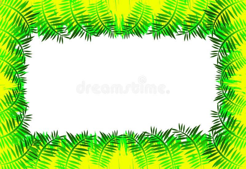 Frontera de las hojas stock de ilustración