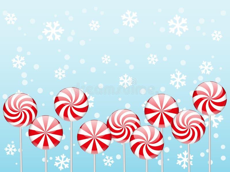 Frontera de los caramelos de la Navidad ilustración del vector