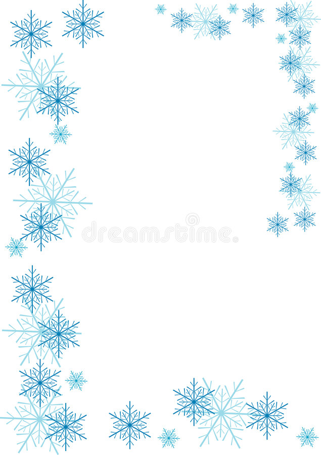 Frontera de los copos de nieve ilustración del vector