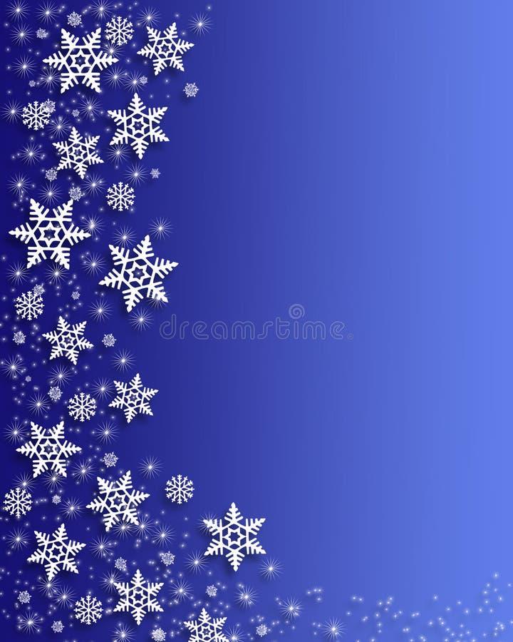 Frontera de los copos de nieve de la Navidad ilustración del vector