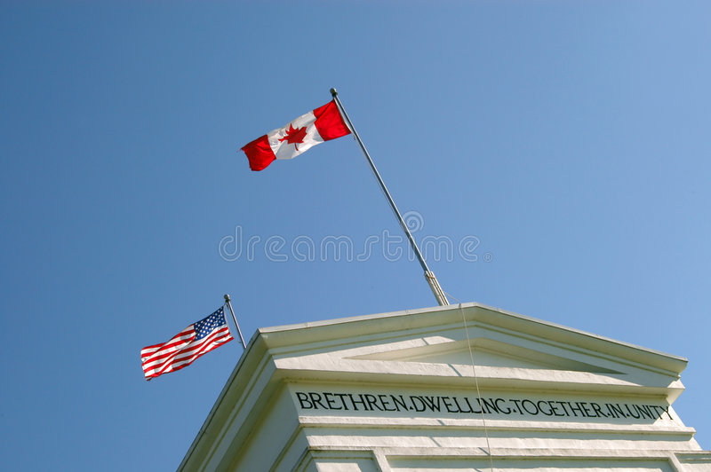 Frontera de los E.E.U.U., Canadá fotografía de archivo