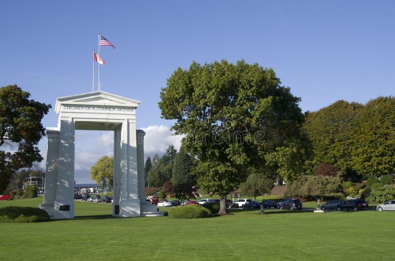 Frontera de los E.E.U.U. Canadá fotografía de archivo libre de regalías