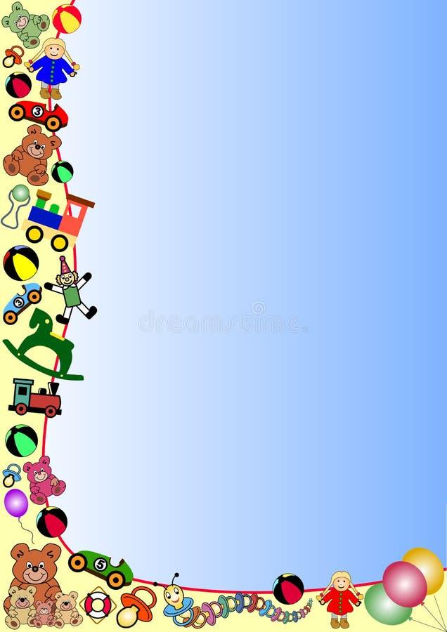 Frontera de los juguetes ilustración del vector