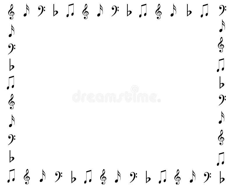 Frontera de los símbolos de música libre illustration