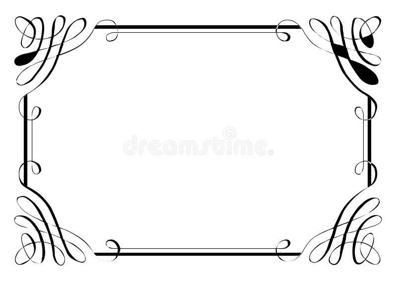 Frontera de lujo cuatro de la página stock de ilustración