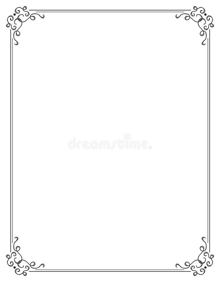 Frontera de lujo dos de la paginación ilustración del vector
