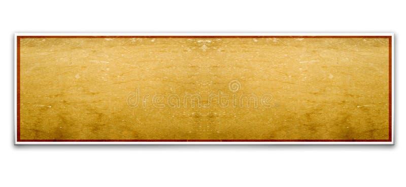 Frontera de madera ilustración del vector