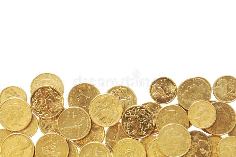Frontera de monedas australianas imagen de archivo libre de regalías