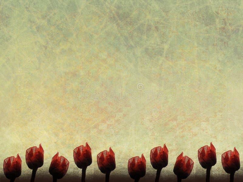 Frontera de papel roja de Rose foto de archivo