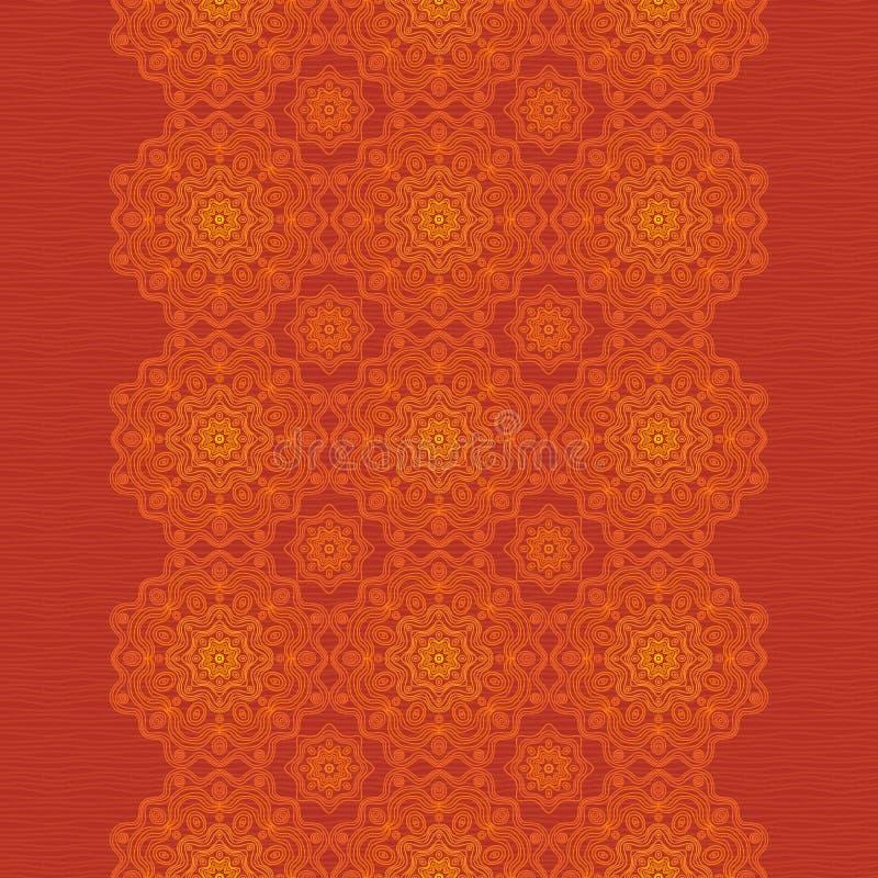 Frontera decorativa étnica con el ornamento de encaje. ilustración del vector