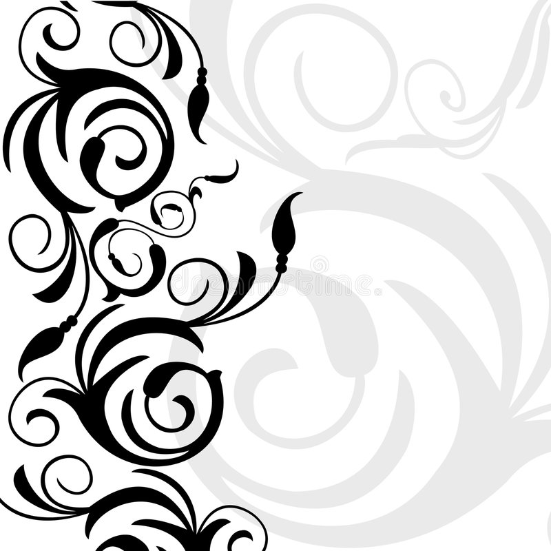 Frontera decorativa ilustración del vector