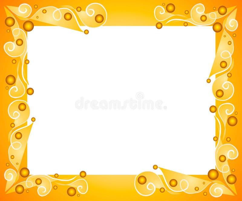 Frontera decorativa del marco del oro ilustración del vector