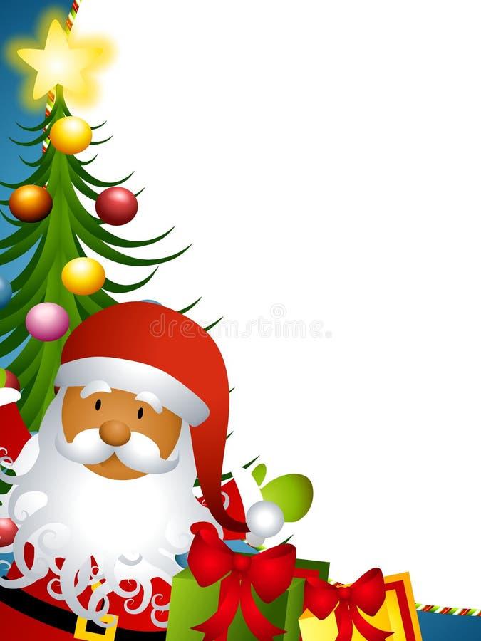 Frontera del árbol de Papá Noel stock de ilustración