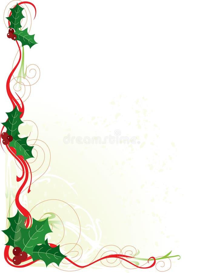 Frontera del acebo de la Navidad ilustración del vector
