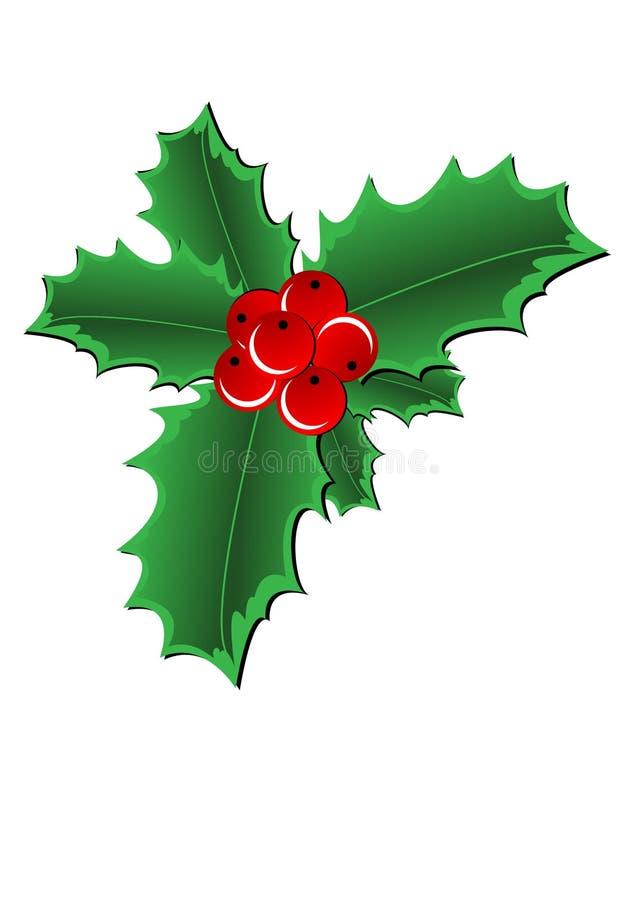 Frontera del acebo de la Navidad stock de ilustración