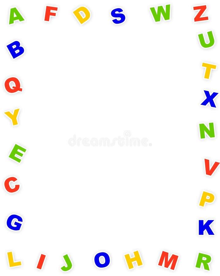 Frontera del alfabeto stock de ilustración