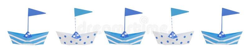 Frontera del barco del bebé libre illustration