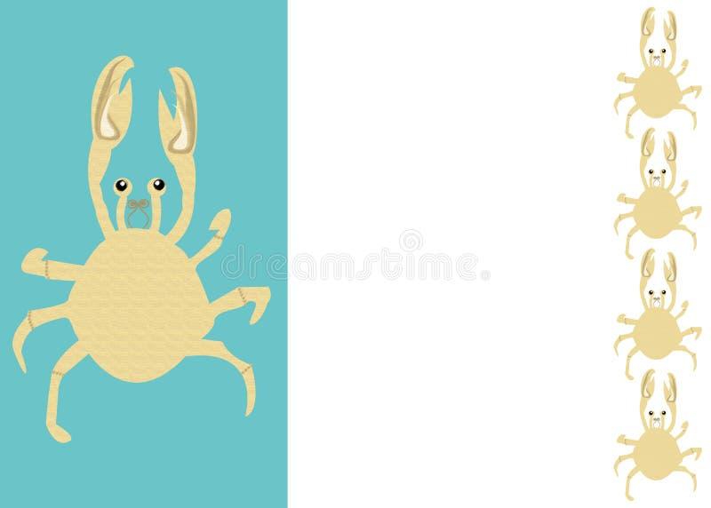 Frontera del cangrejo de los mariscos stock de ilustración