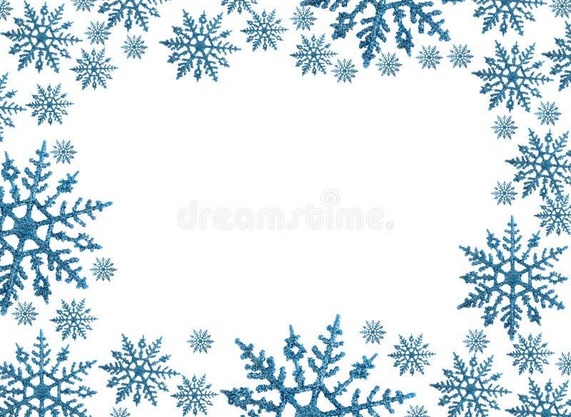 Frontera del copo de nieve foto de archivo