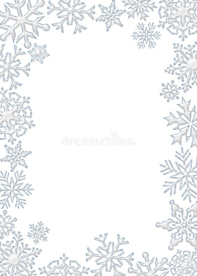 Frontera del copo de nieve libre illustration