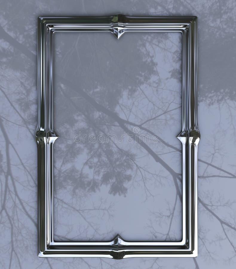 frontera del cromo 3D en perspectiva foto de archivo libre de regalías