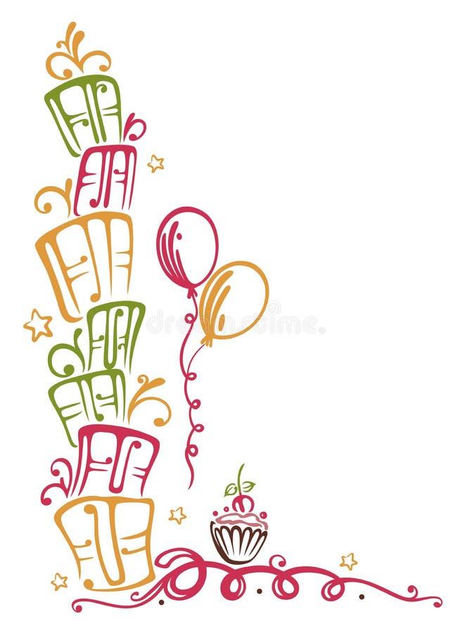Frontera del cumpleaños stock de ilustración