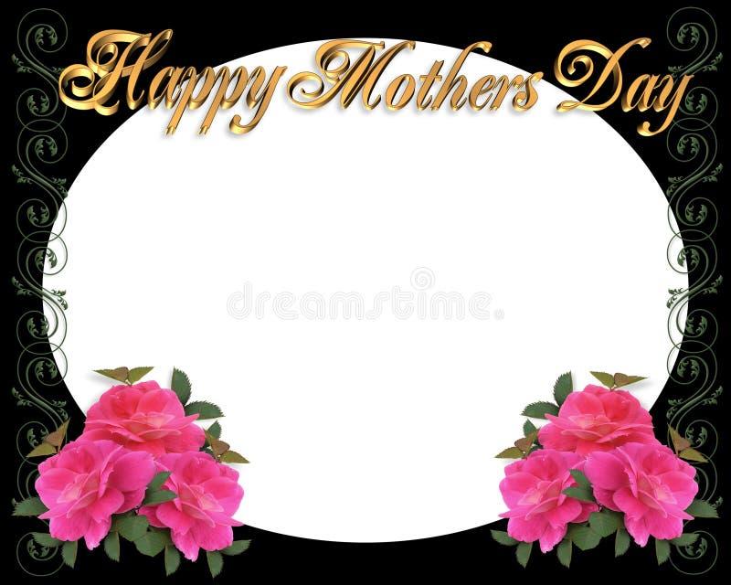 Frontera del día de madres en negro stock de ilustración