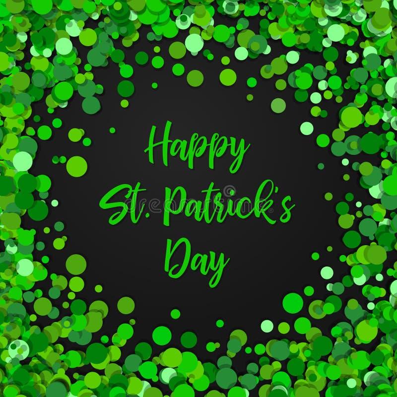 Frontera Del Día De St Patrick S Con El Verde Cuatro Y Tréboles De ...