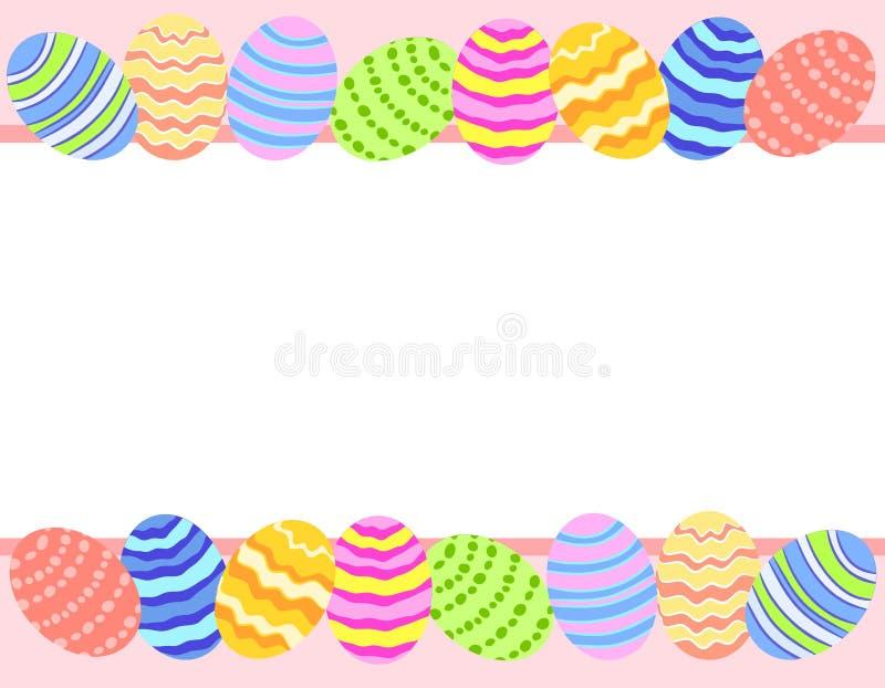 Frontera del fondo de la foto del huevo de Pascua ilustración del vector