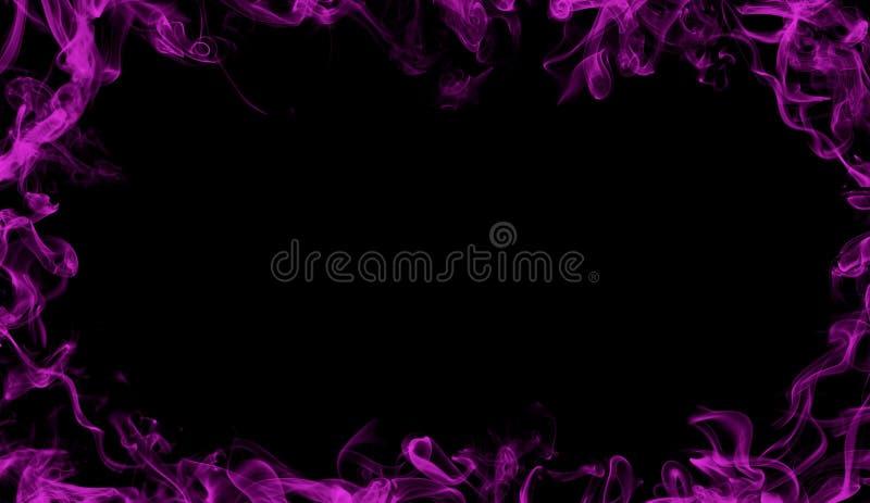 Frontera del humo púrpura Efecto brumoso para la película, el texto o el espacio imágenes de archivo libres de regalías