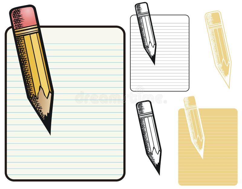 Frontera del lápiz ilustración del vector