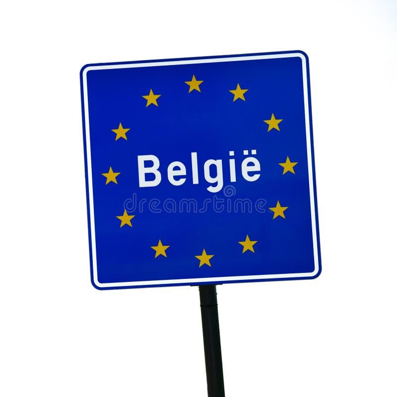 Frontera del letrero de Bélgica fotografía de archivo