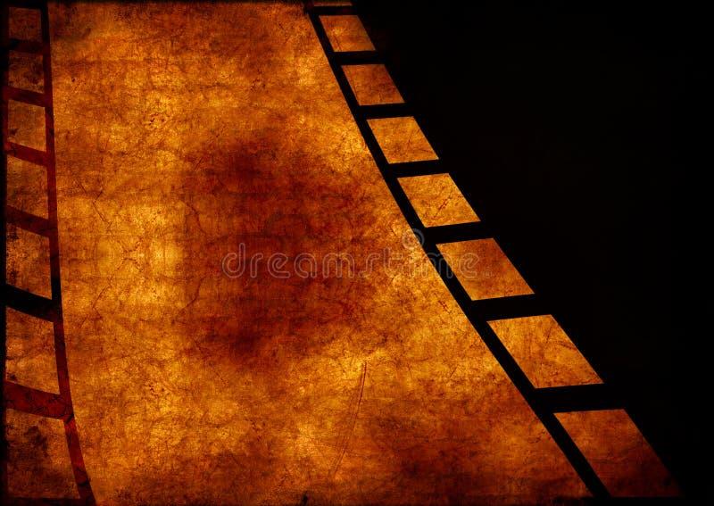 Frontera del marco de película de Grunge stock de ilustración