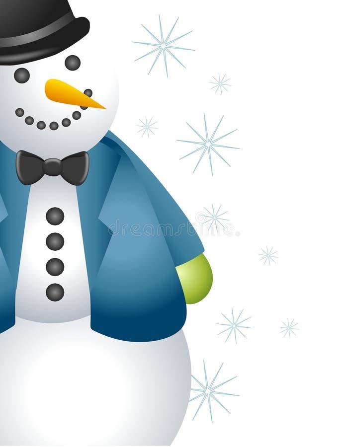 Frontera del muñeco de nieve stock de ilustración