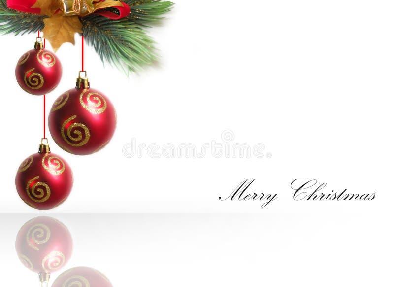 Frontera del ornamento de la Navidad imagenes de archivo