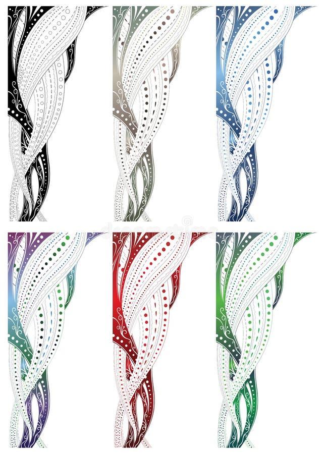 Frontera del remolino del diseño stock de ilustración