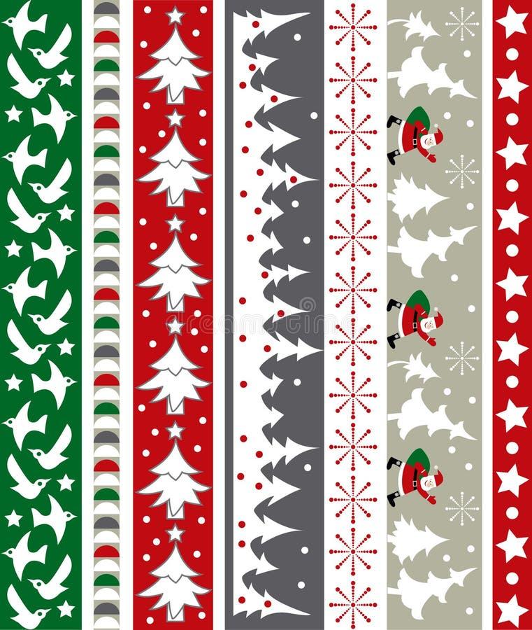 Frontera del vector de la Navidad ilustración del vector