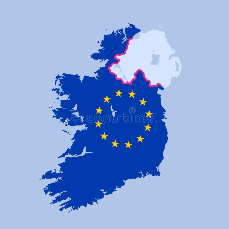 Frontera dura en Irlanda ilustración del vector