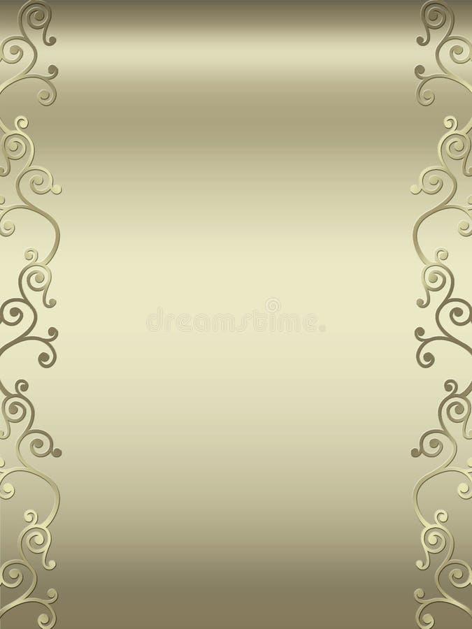 Frontera elegante del diseño del remolino libre illustration