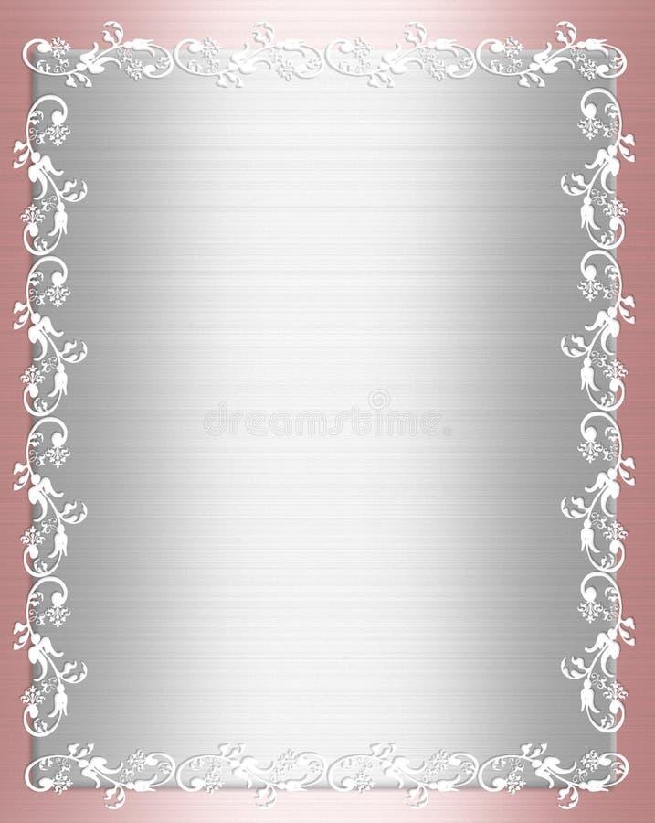 Frontera elegante lamentable del satén rosado ilustración del vector