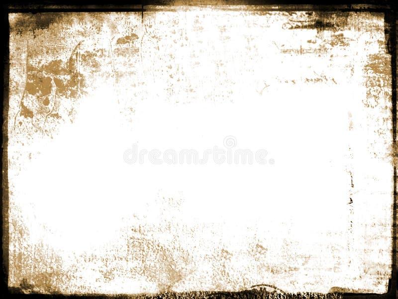 Frontera envejecida viejo grunge de la foto ilustración del vector