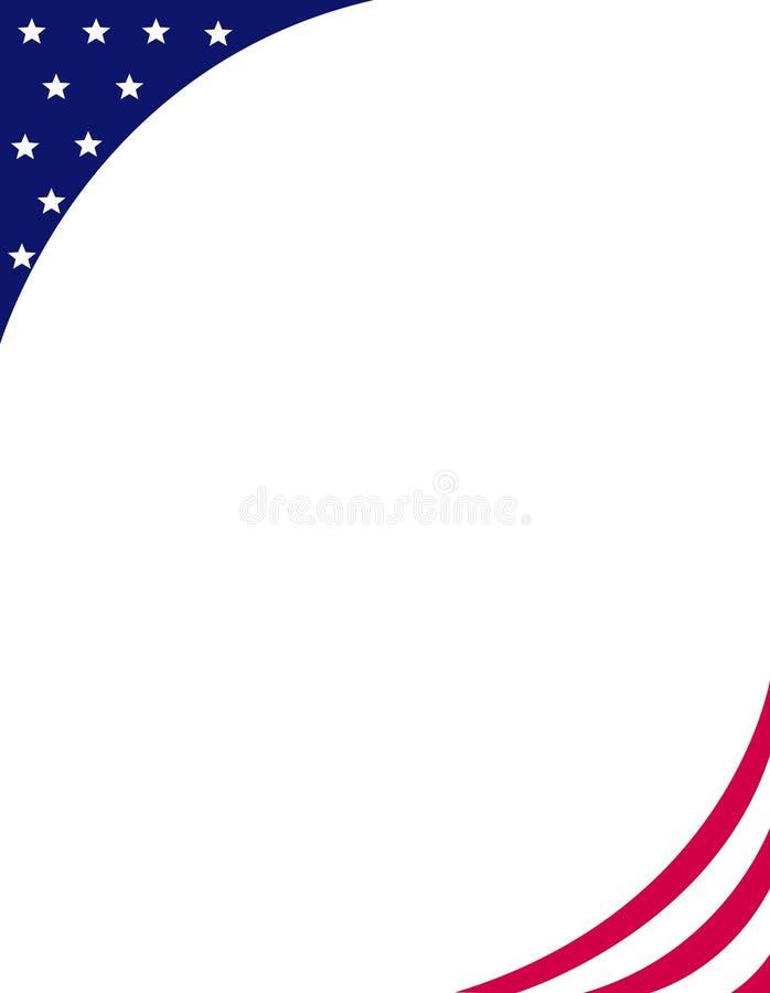 Frontera/esquina patrióticas ilustración del vector